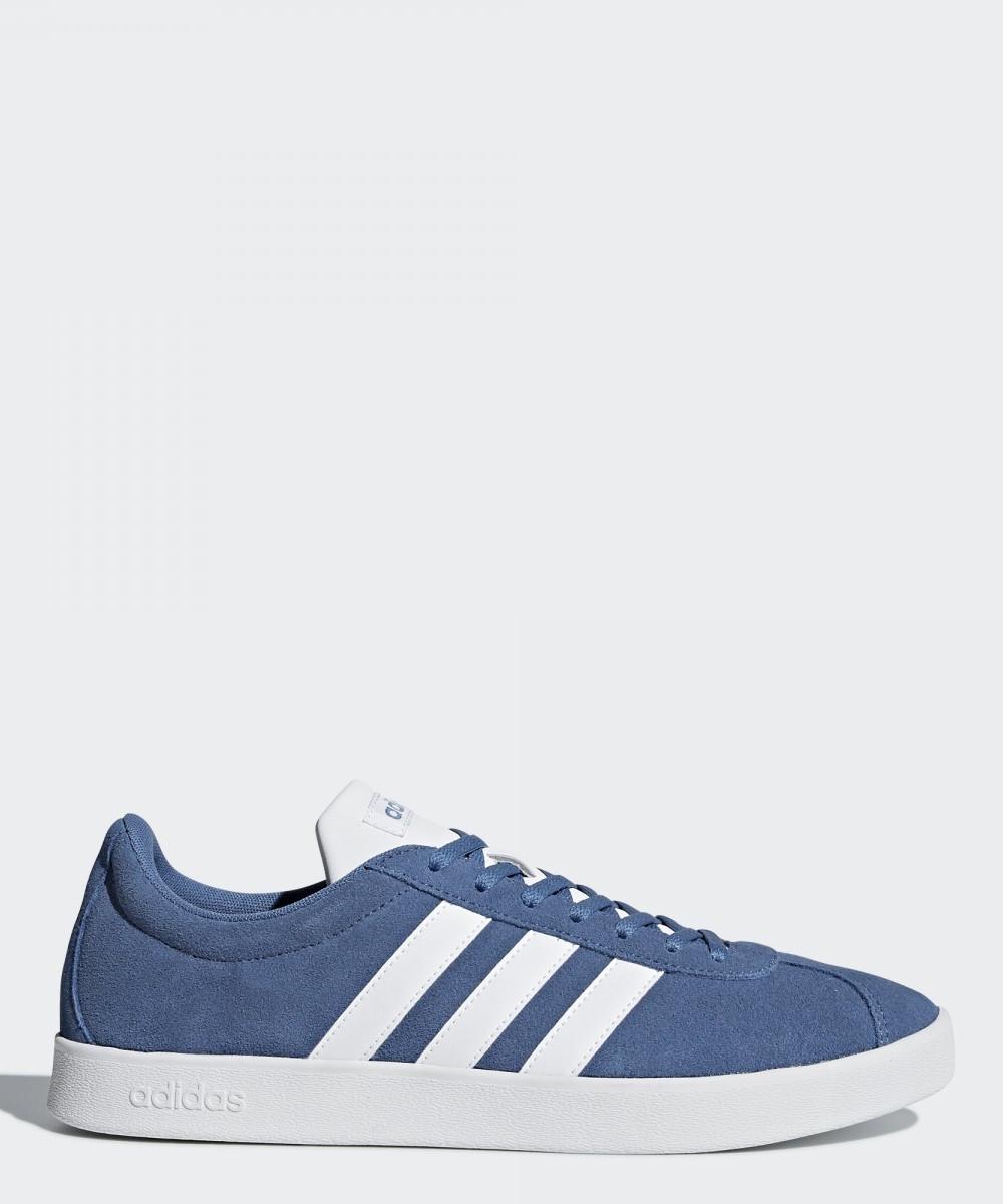 Adidas Scarpe Sneakers Sportive VL Court Gazelle Style Azzurro Uomo
