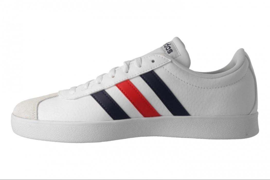 Adidas VL Scarpe da uomo in pelle scamosciata Court Ginnastica Calzature Sportive Nero/Bianco