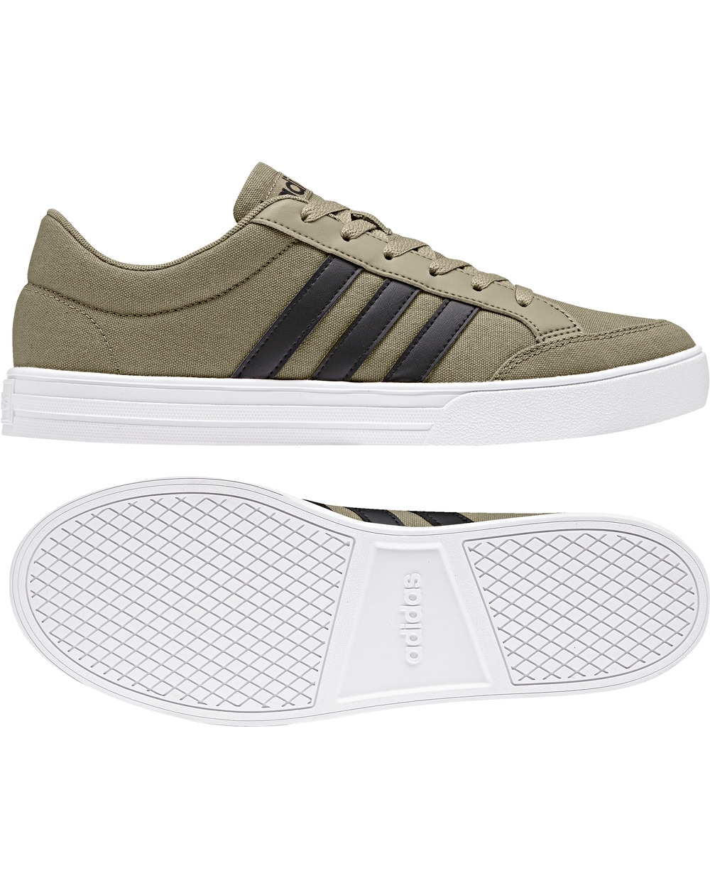 8 di 9 Adidas Scarpe Sneakers Trainers Sportive Ginnastica Tennis VS SET canvas Verde