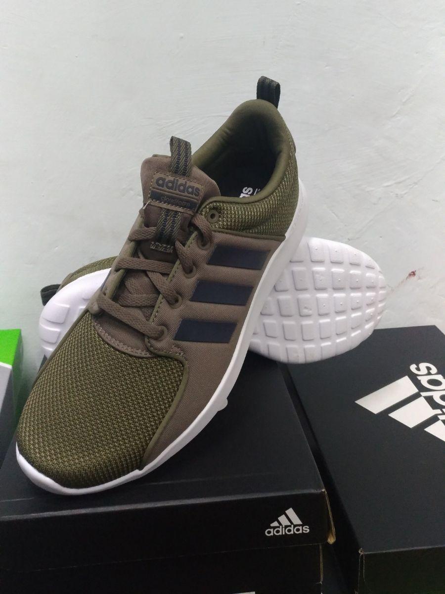 3 sur 9 Adidas Scarpe Sneakers Trainers Sportive Ginnastica Tennis Lite  Racer Verde 42ddbdd641aa3