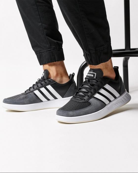 Détails sur Adidas Chaussures sportif Sneakers Noir COURT 80S Homme