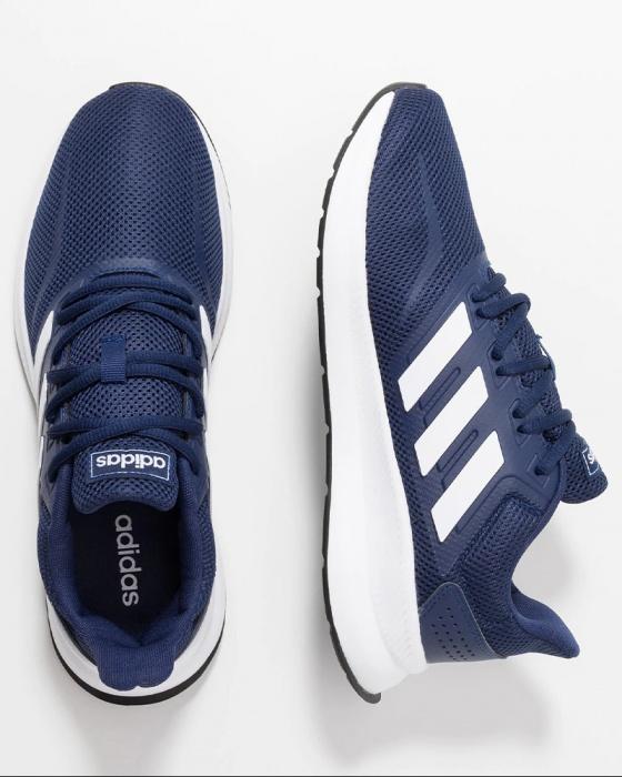 Dettagli su Adidas Scarpe Sportive Palestra Jogging Ginnastica Running Falcon 2019 Blue