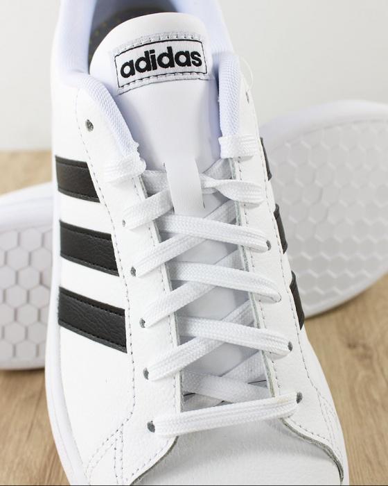 Détails sur Adidas Chaussures sportif Sneakers Grand Court Blanc noir