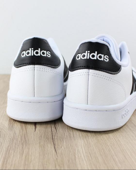 Dettagli su Adidas Scarpe Sportive Sneakers Grand Court Bianco Nero