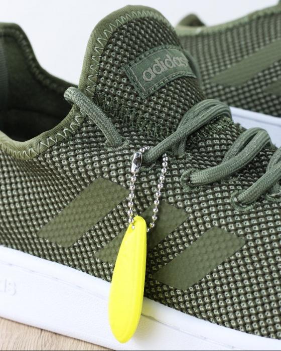 Sport Tennisschuhe Sneakers Adidas Court Adapt Sportswear Lifestyle Original Man Weiß Grün