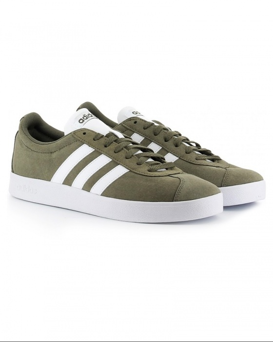 Adidas sports shoes sneakers VL Court 2.0 vulc green suede | eBay