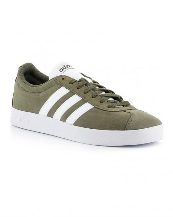 Adidas Chaussures sportif Sneakers VL Court 2.0 Vulc Vert daim | eBay