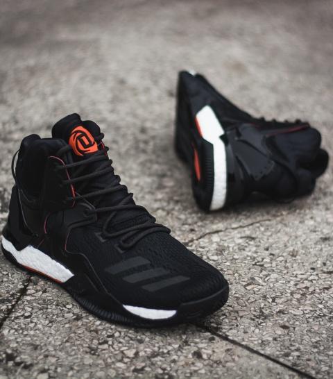 new product 149c8 52d20 ... Scarpe da basket Adidas D Rose 7 Primeknit Away Uomo nero - Basketball  Shoes Adidas D ...