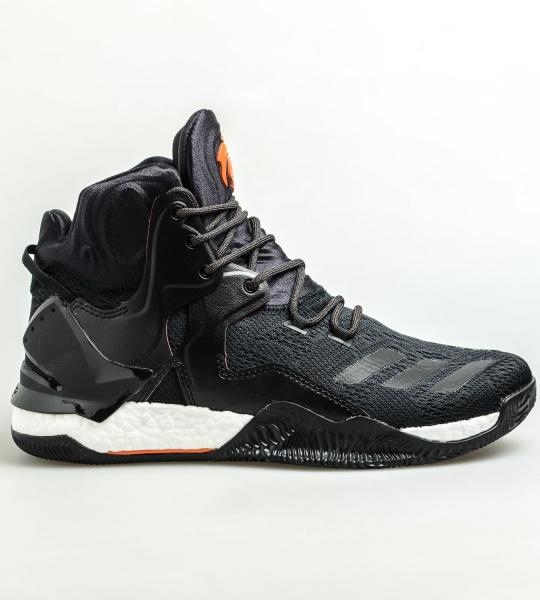 size 40 072b6 df991 ... Scarpe da basket Adidas D Rose 7 Primeknit Away Uomo nero - Basketball Shoes  Adidas D ...