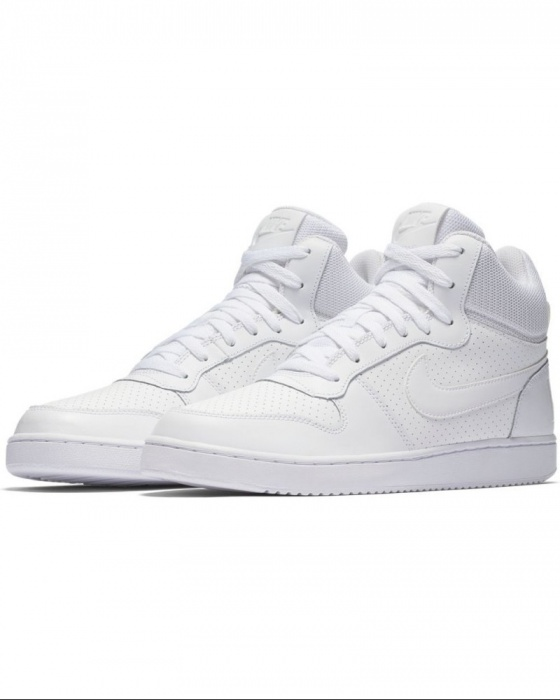 premium selection ba7ab 84724 Scarpe sportive da Ginnastica Sneakers Nike Court Borough Mid Uomo Bianco Air  Force style Originale ...