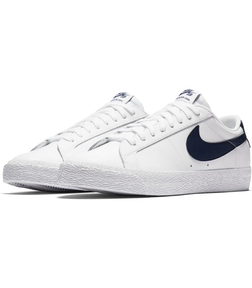 promo code 6d051 047b2 Nike Scarpe Sneakers Sportive Ginnastica Bianco blu SB Zoom Blazer Low 7 7  di 8 ...
