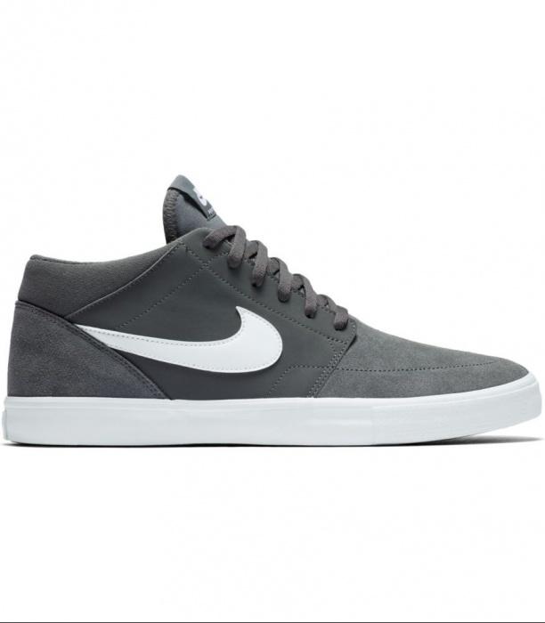 brand new 3af82 68d2a ... Scarpe da Ginnastica Sneakers Nike Solarsoft Portmore II Mid  Skateboarding uomo grigio caviglia alta - Sneakers