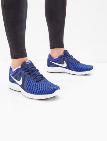 7c6b80a098e58 Scarpe Ginnastica Sneakers Running Nike Revolution 4 Uomo Blu Originale -  Sport Trainers gym Shoes Sneakers ...