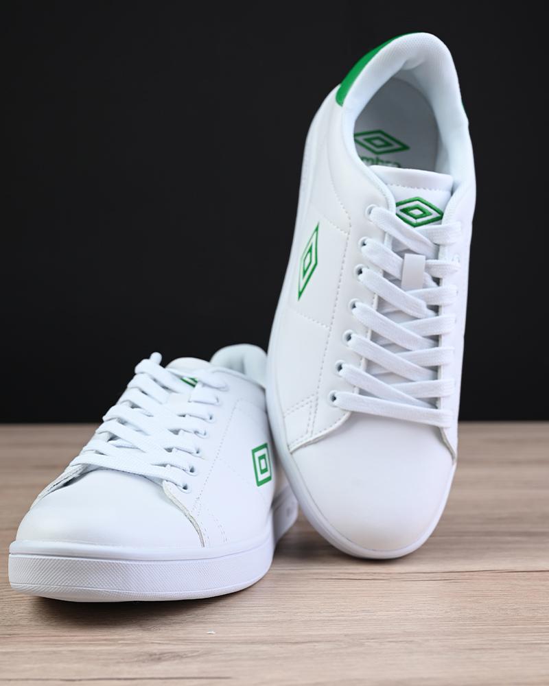 Umbro-Scarpe-Sportive-Sneakers-Bianco-Verde-Wimbledon-Sportswear miniatura 9