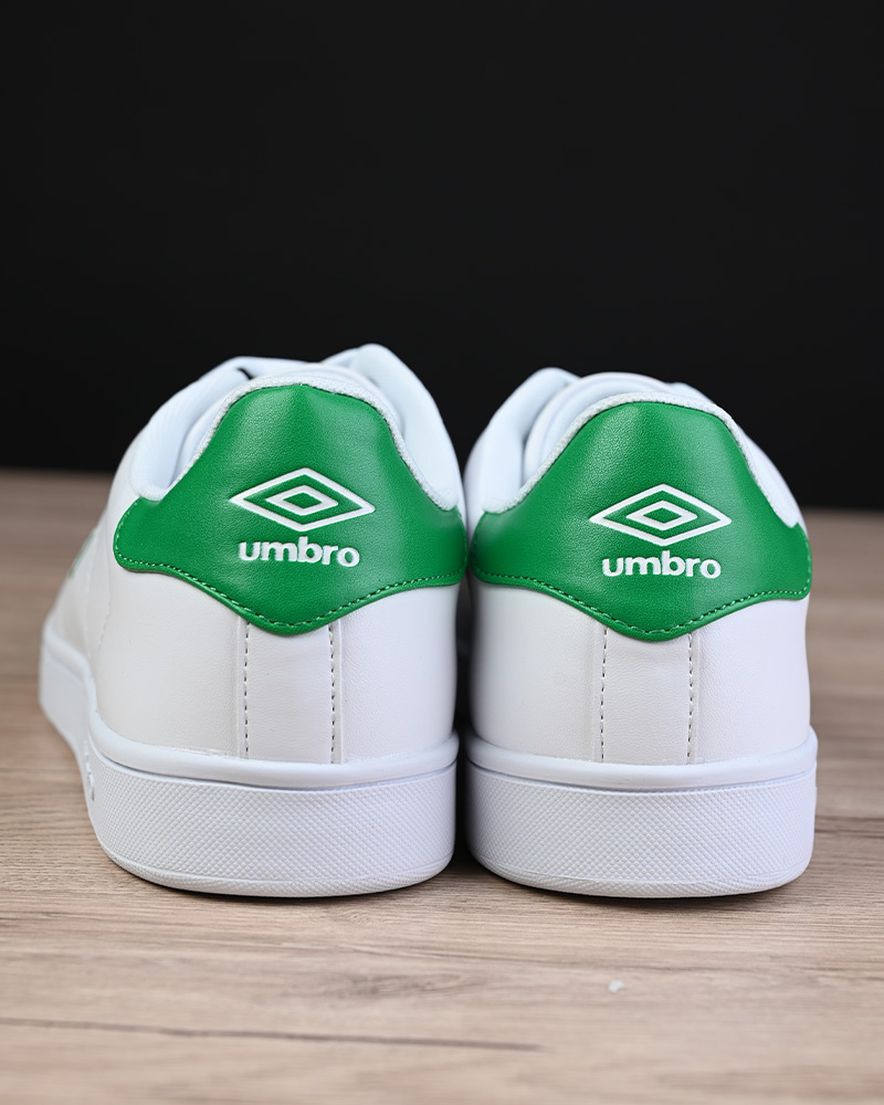 Umbro-Scarpe-Sportive-Sneakers-Bianco-Verde-Wimbledon-Sportswear miniatura 4