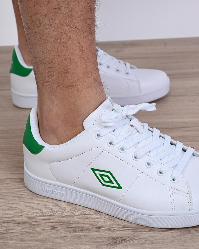 Umbro-Scarpe-Sportive-Sneakers-Bianco-Verde-Wimbledon-Sportswear miniatura 7