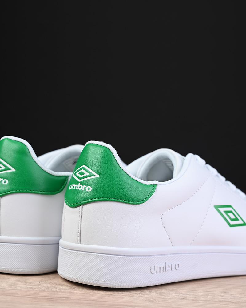 Umbro-Scarpe-Sportive-Sneakers-Bianco-Verde-Wimbledon-Sportswear miniatura 5