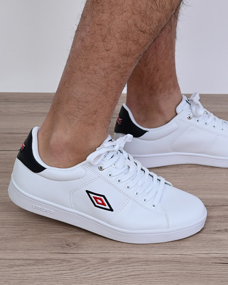 Umbro-Scarpe-Sportive-Sneakers-Bianco-Blue-Manchester-UK-Sportswear miniatura 7