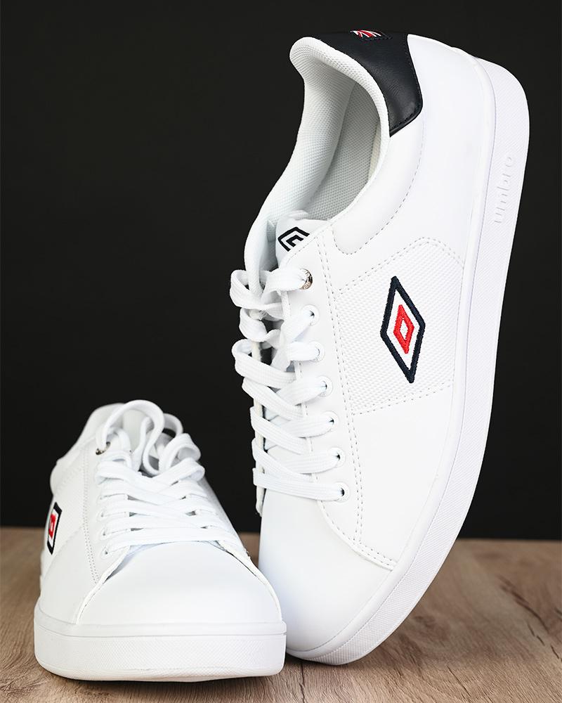 Umbro-Scarpe-Sportive-Sneakers-Bianco-Blue-Manchester-UK-Sportswear miniatura 3