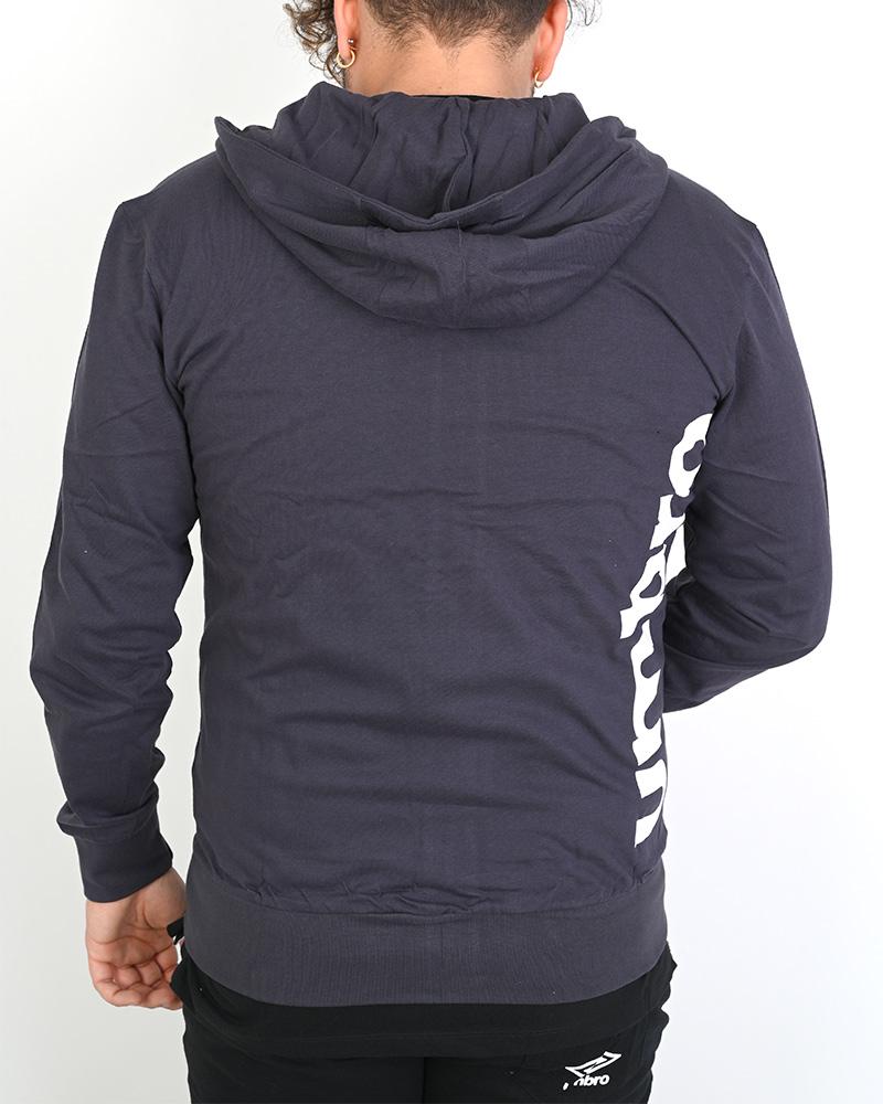 Umbro-Tuta-Cappuccio-Sportiva-Tracksuit-Essential-Hoodie-Uomo-Cotone-leggero miniatura 5