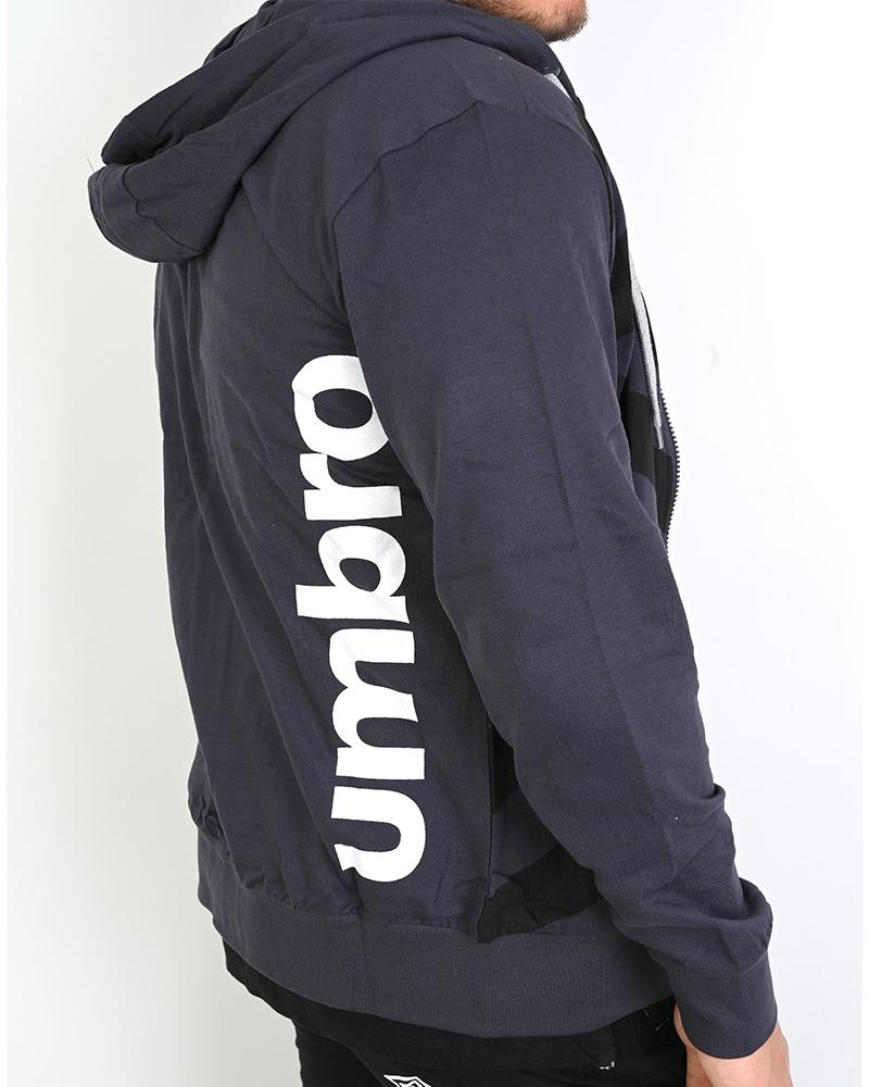 Umbro-Tuta-Cappuccio-Sportiva-Tracksuit-Essential-Hoodie-Uomo-Cotone-leggero miniatura 7