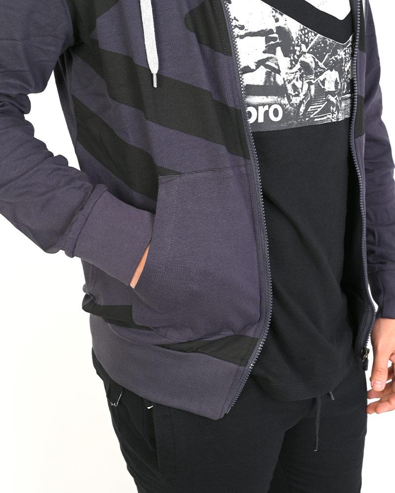 Umbro-Tuta-Cappuccio-Sportiva-Tracksuit-Essential-Hoodie-Uomo-Cotone-leggero miniatura 9