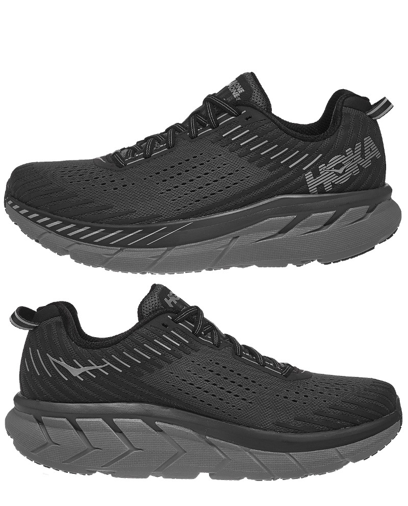 Hoka-ONE-ONE-Running-Shoes-Sneakers-CLIFTON-5-Black-2019-Men