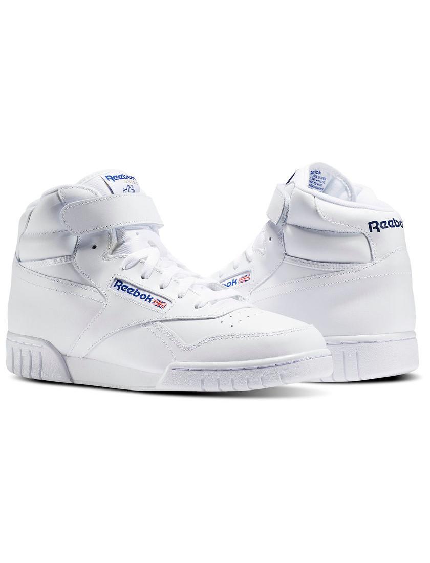 Reebok-Scarpe-Sneakers-Trainers-Sportive-Classic-Bianco-EX-O-FIT-HI miniature 9