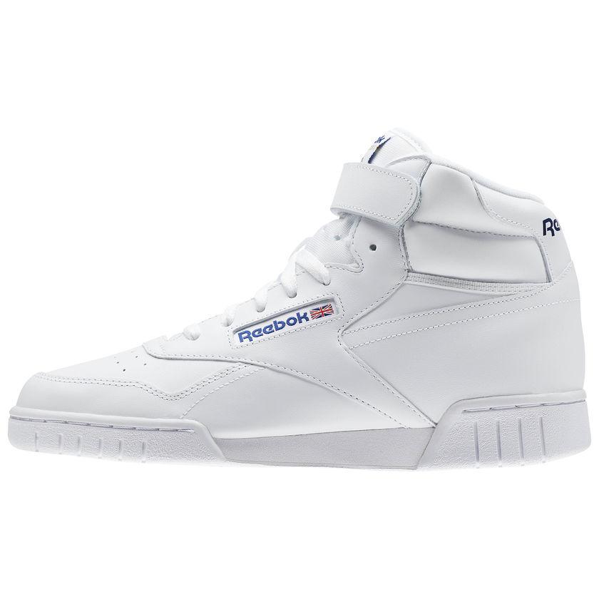 Reebok-Scarpe-Sneakers-Trainers-Sportive-Classic-Bianco-EX-O-FIT-HI miniature 8
