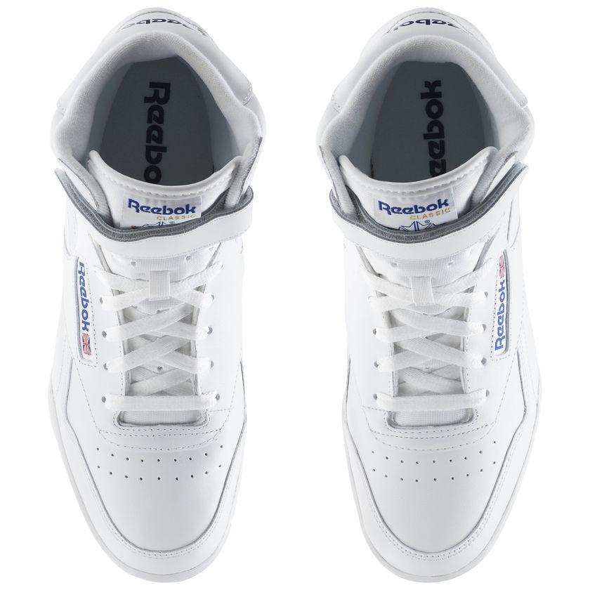 Reebok-Scarpe-Sneakers-Trainers-Sportive-Classic-Bianco-EX-O-FIT-HI miniature 5