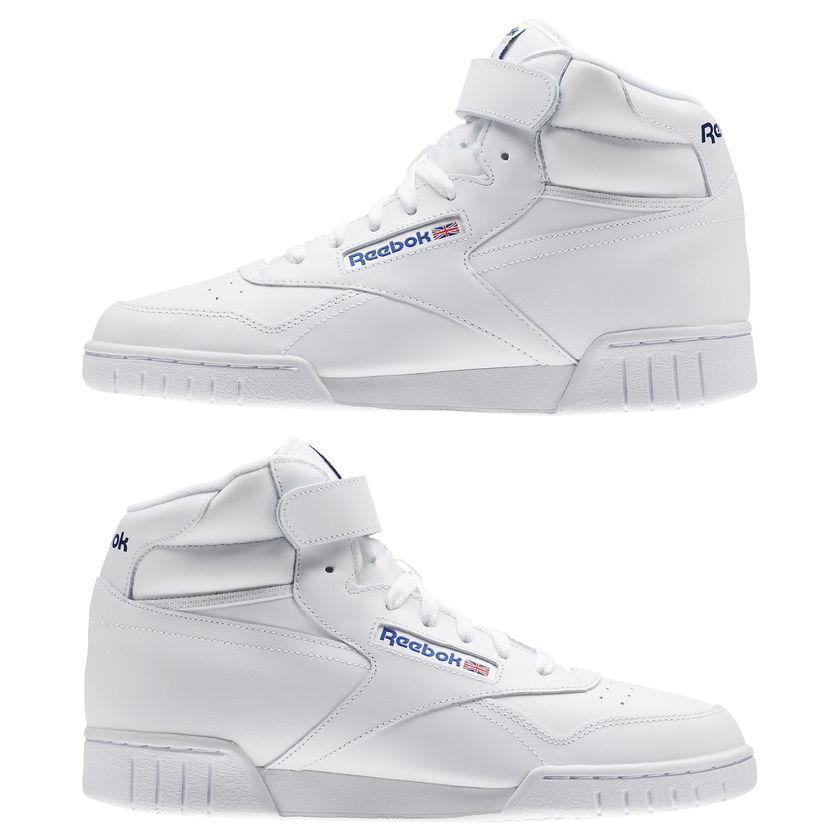 Reebok-Scarpe-Sneakers-Trainers-Sportive-Classic-Bianco-EX-O-FIT-HI miniature 11