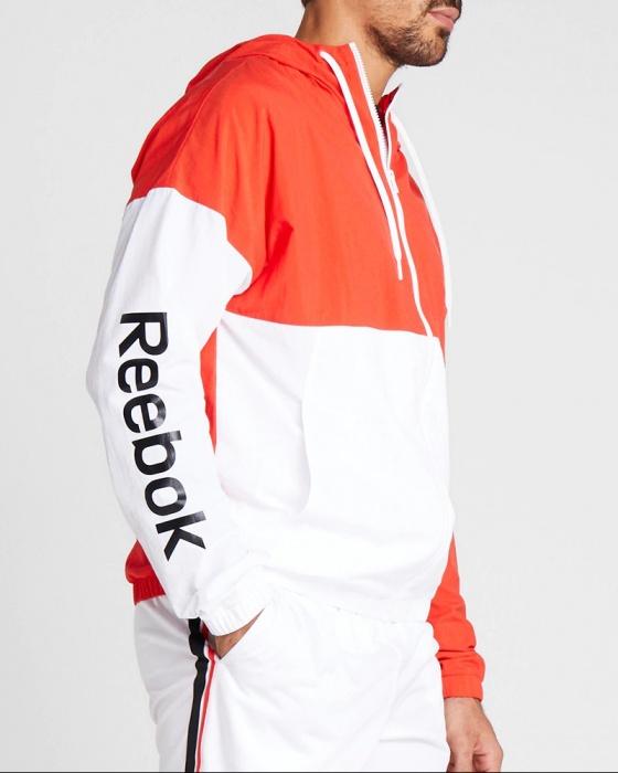 Reebok Giacca vento pioggia Uomo Rosso Linear Logo WindBreaker 2020 | eBay