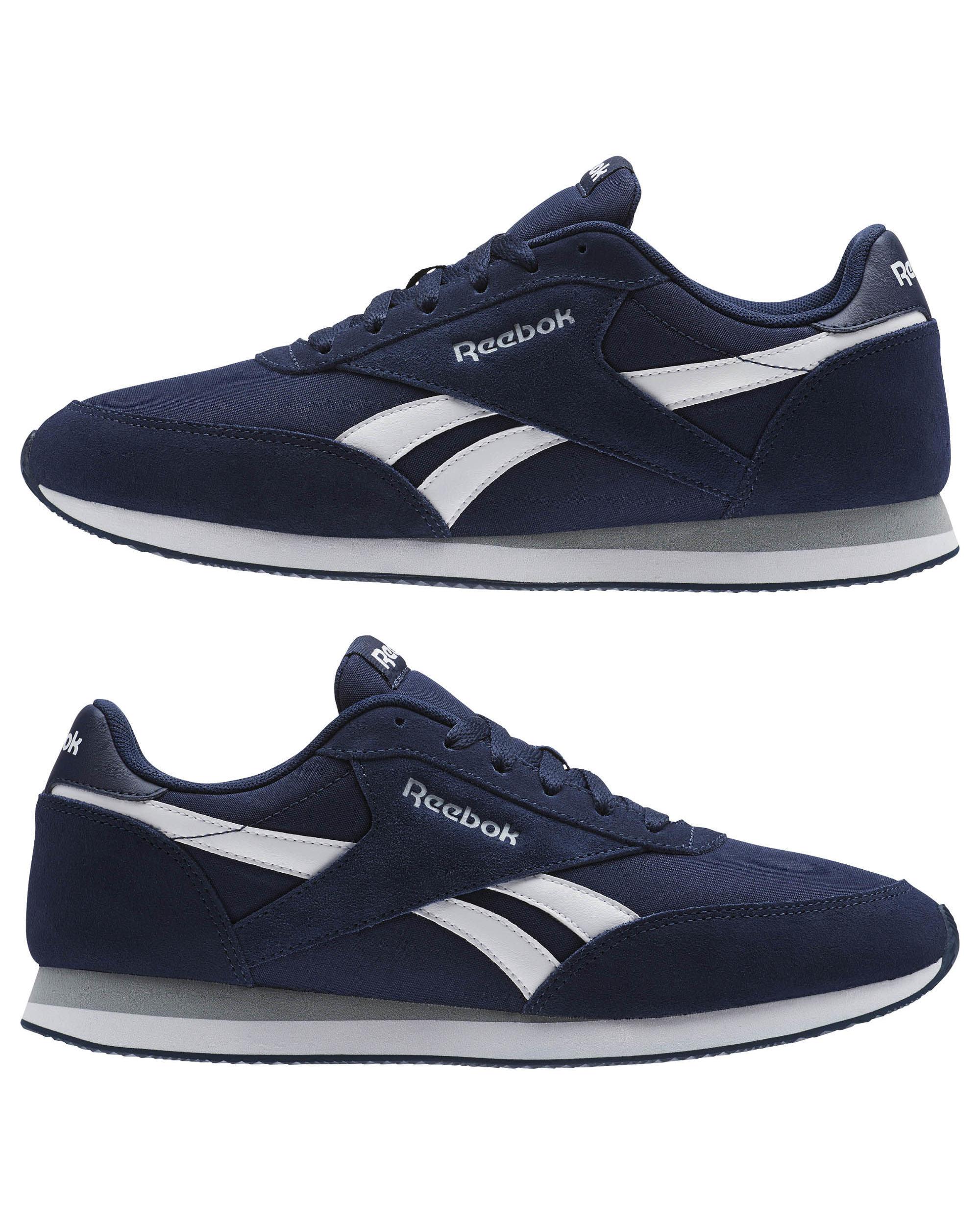 d190a3a437ac5 Reebok Sneakers Shoes Schuhe Sport Royal classic jogger Navy Men