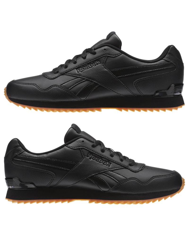 Dettagli su Reebok Scarpe Sportive Sneakers Royal Glide Ripple Clip Nero