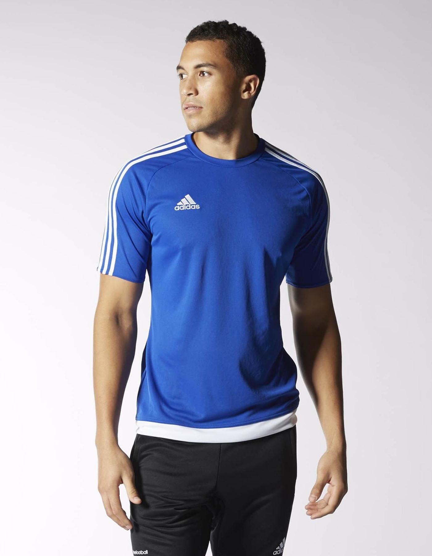 estro 15 top adidas training shirt short sleeves men. Black Bedroom Furniture Sets. Home Design Ideas