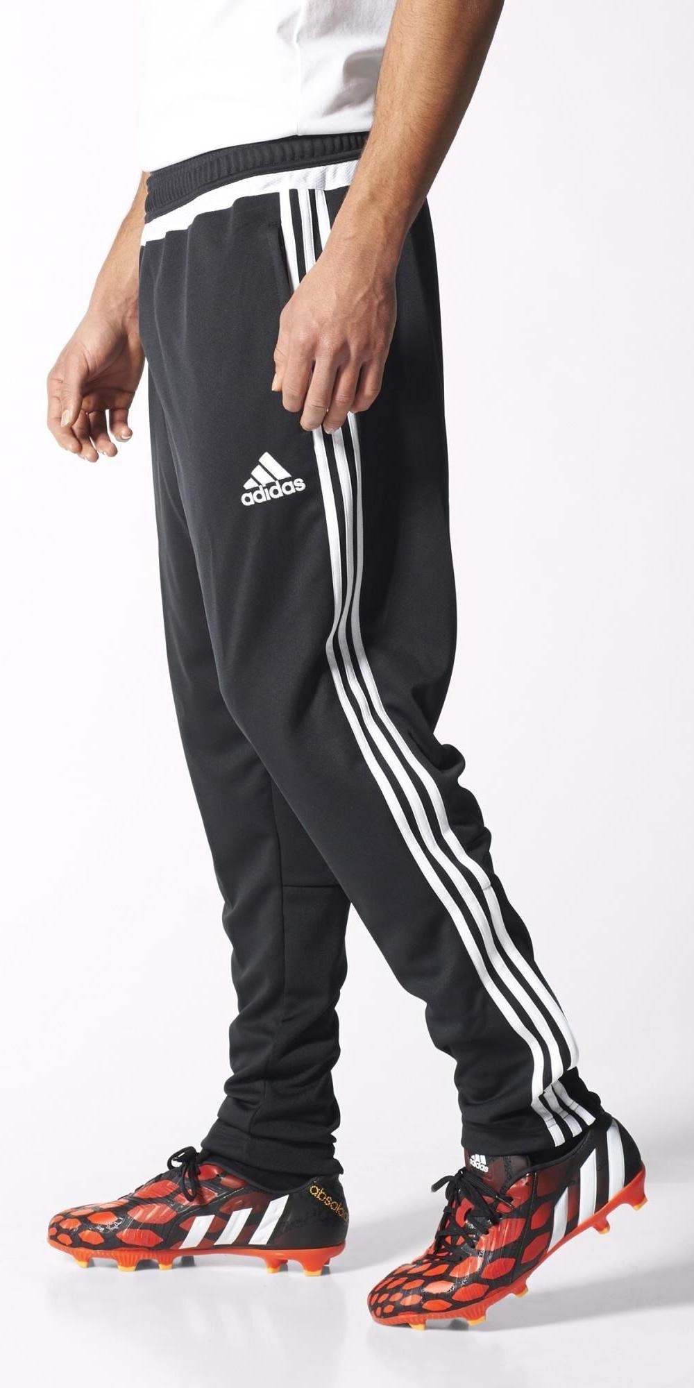 tiro 15 adidas track pantalon pants hose blanc noir cheville proximit homme ebay. Black Bedroom Furniture Sets. Home Design Ideas