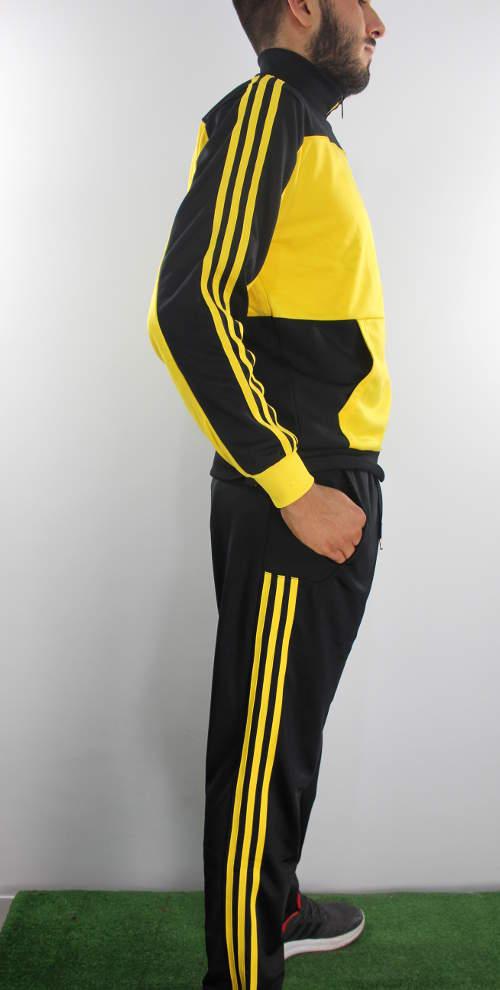 Adidas Tuta Sereno 11 Giallo Nero Jr Pictures to pin on Pinterest