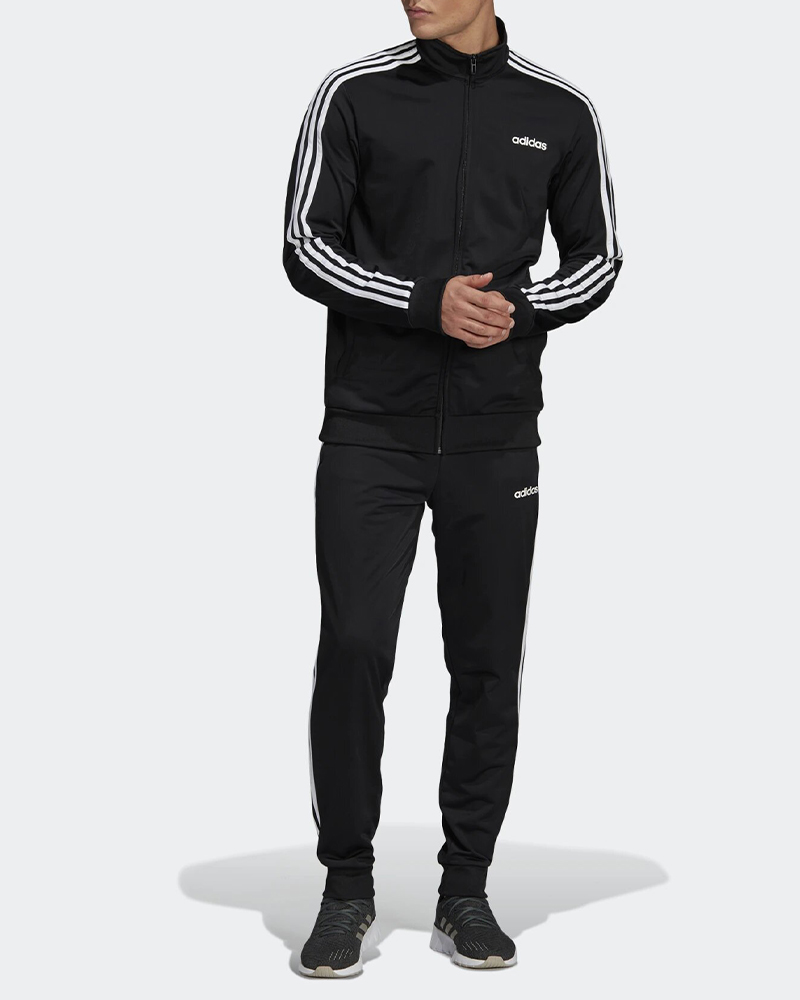 Adidas-Tuta-Sportiva-Uomo-Nero-ESSENTIALS-3-STRIPES-Tempo-Libero-2020