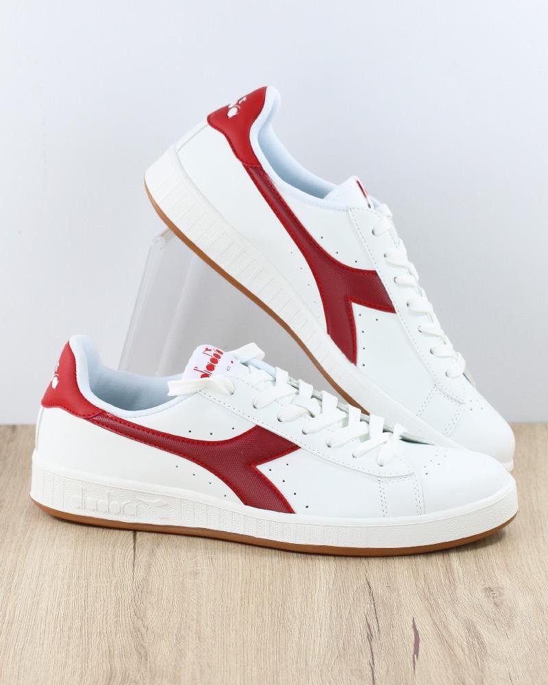 DIADORA SCARPE SPORTIVE Sneakers lifestyle Sportswear Bianco Rosso GAME P Uomo