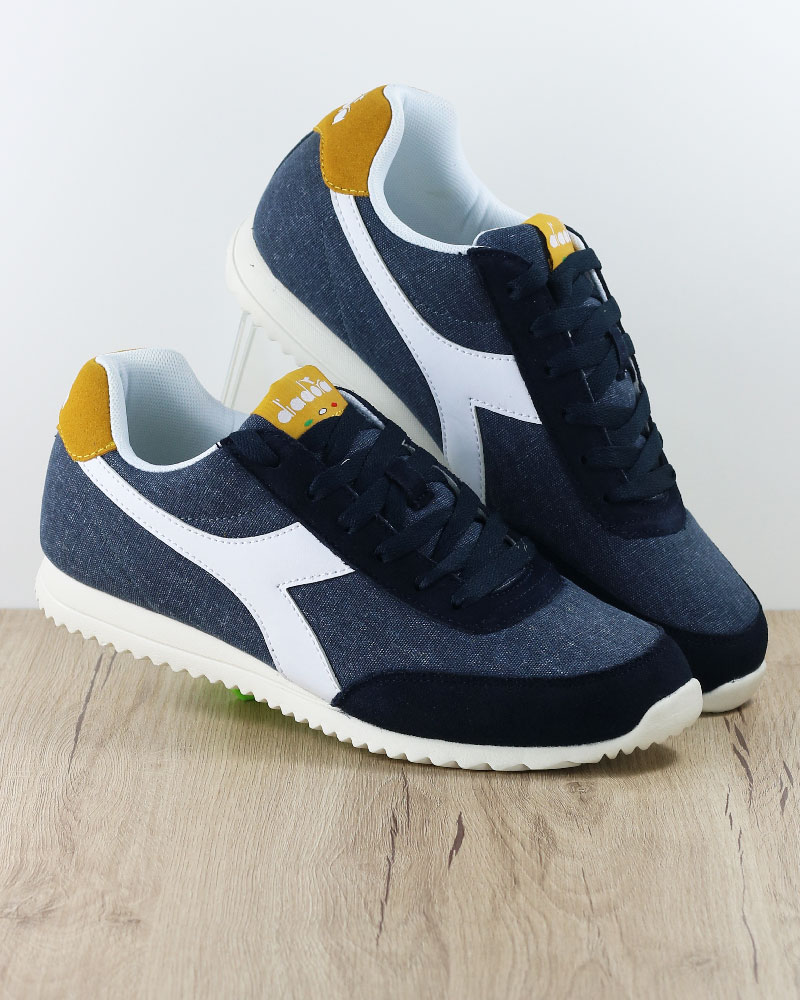 size 40 b3028 b1fe7 Details about Diadora Sneakers Shoes Sport lifestyle Sportswear Jog Light  Navy canvas