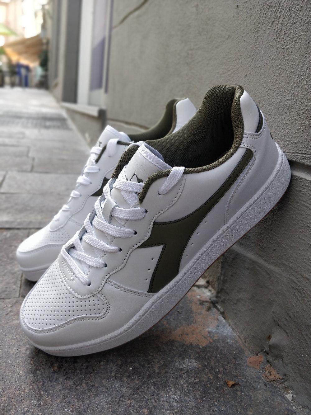 Diadora Bianco Verde Playground Lifestyle Sportswear Scarpe