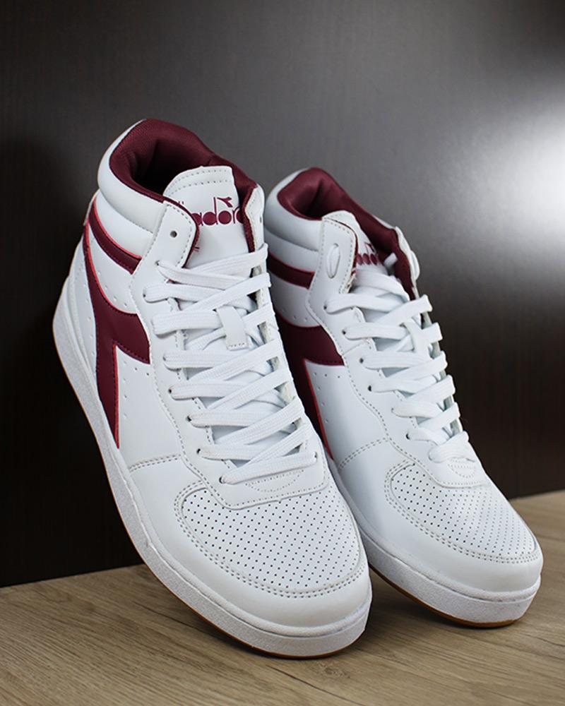 Sneakers Blanc Chaussures Playground de Mid Diadora Violet sport Sportswear High HYWe9ED2I
