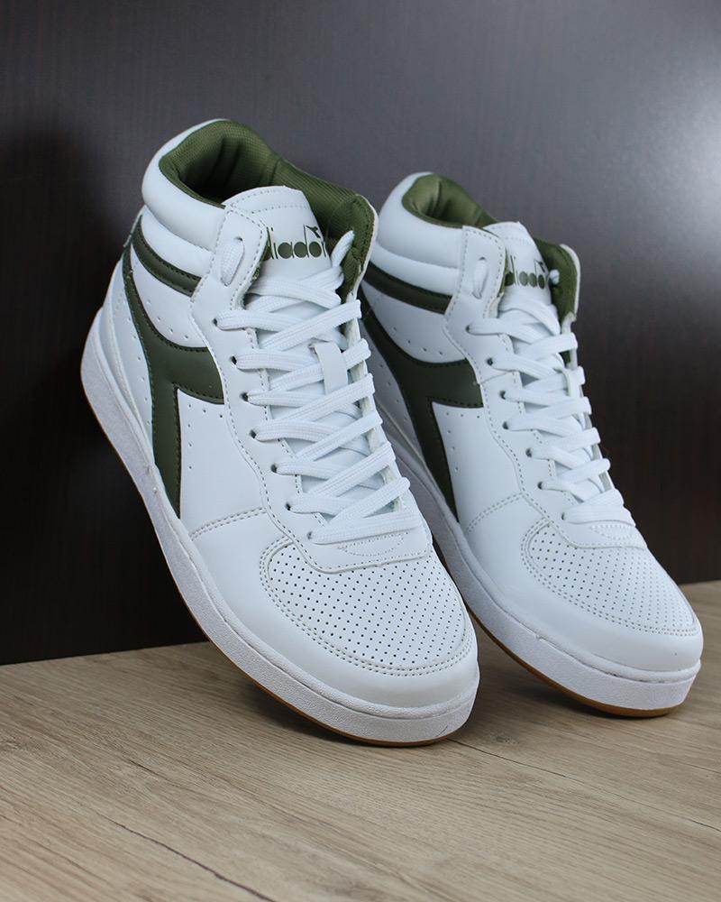 Diadora Sport Schuhe Mid Sneakers Stiefel Schuhe Playground High Basket Mid Schuhe grün Weiß cd78bf