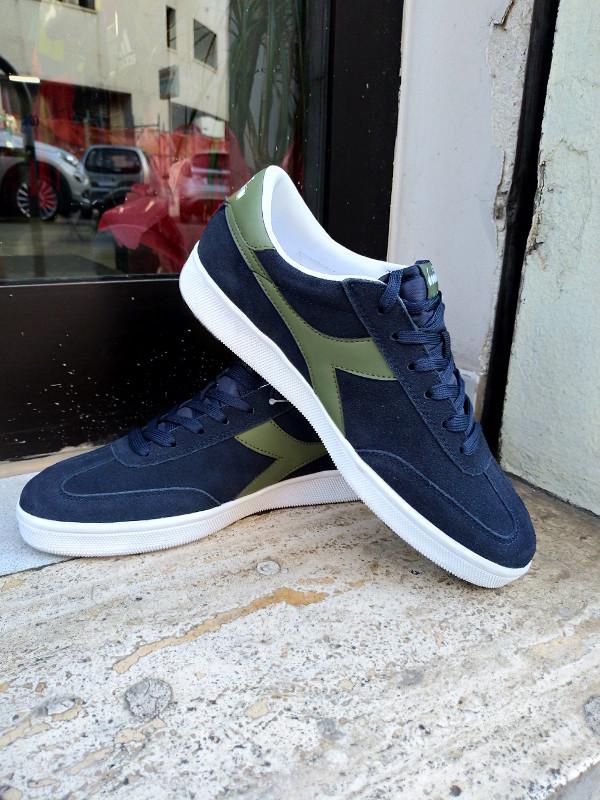 Diadora Sport Schuhe Shoe Sneakers lifestyle sportswear Feld grün-Blau