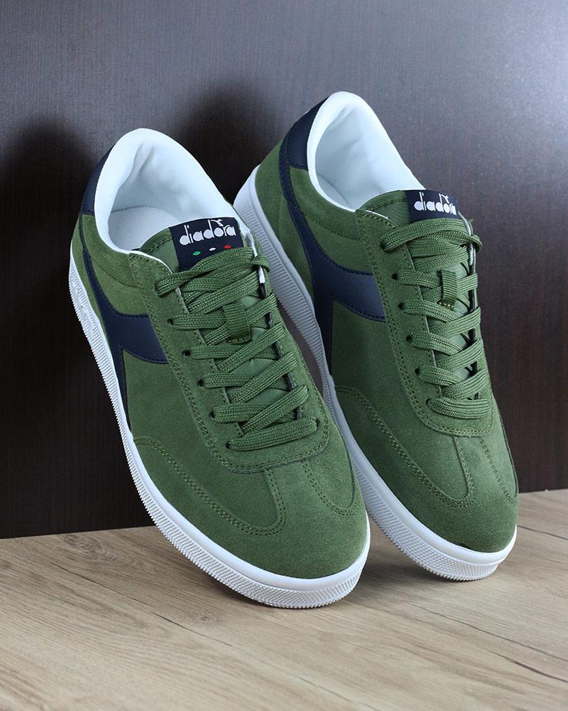 Diadora Chaussures sportif Sneakers Chaussures Field vert bleu lifestyle sportswear