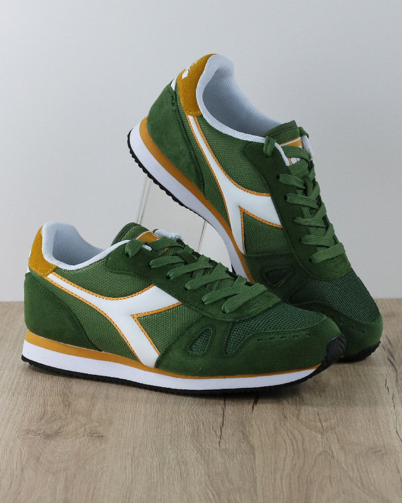 Diadora-Sports-Shoes-Sneakers-Lifestyle-Sportswear-Green-Bronze-Simple-run