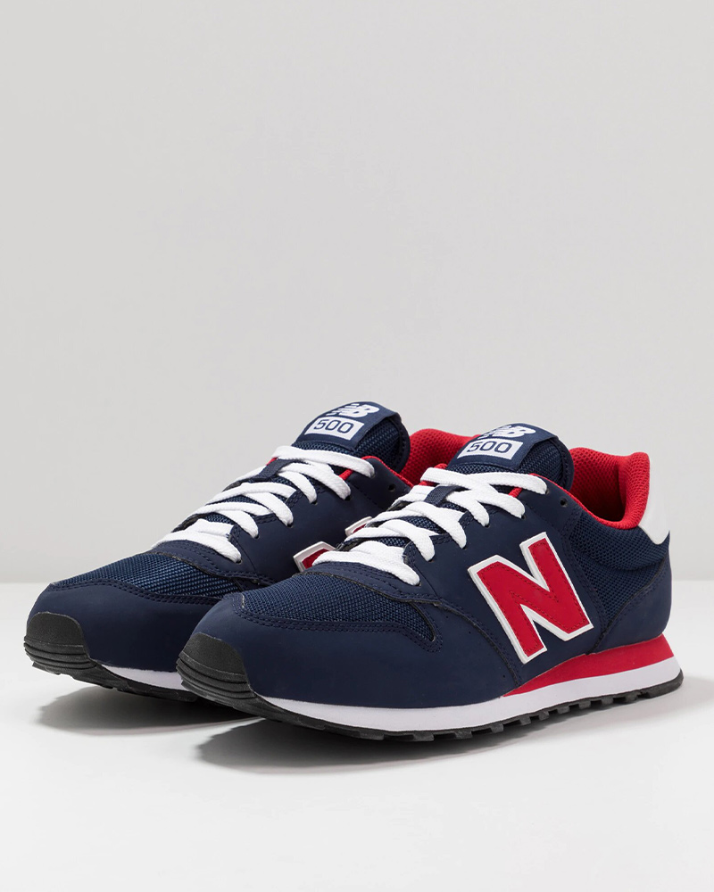 New-Balance-500-Chaussures-sportif-Sport-Shoes-Sneakers-2020-Bleu-rouge miniature 1