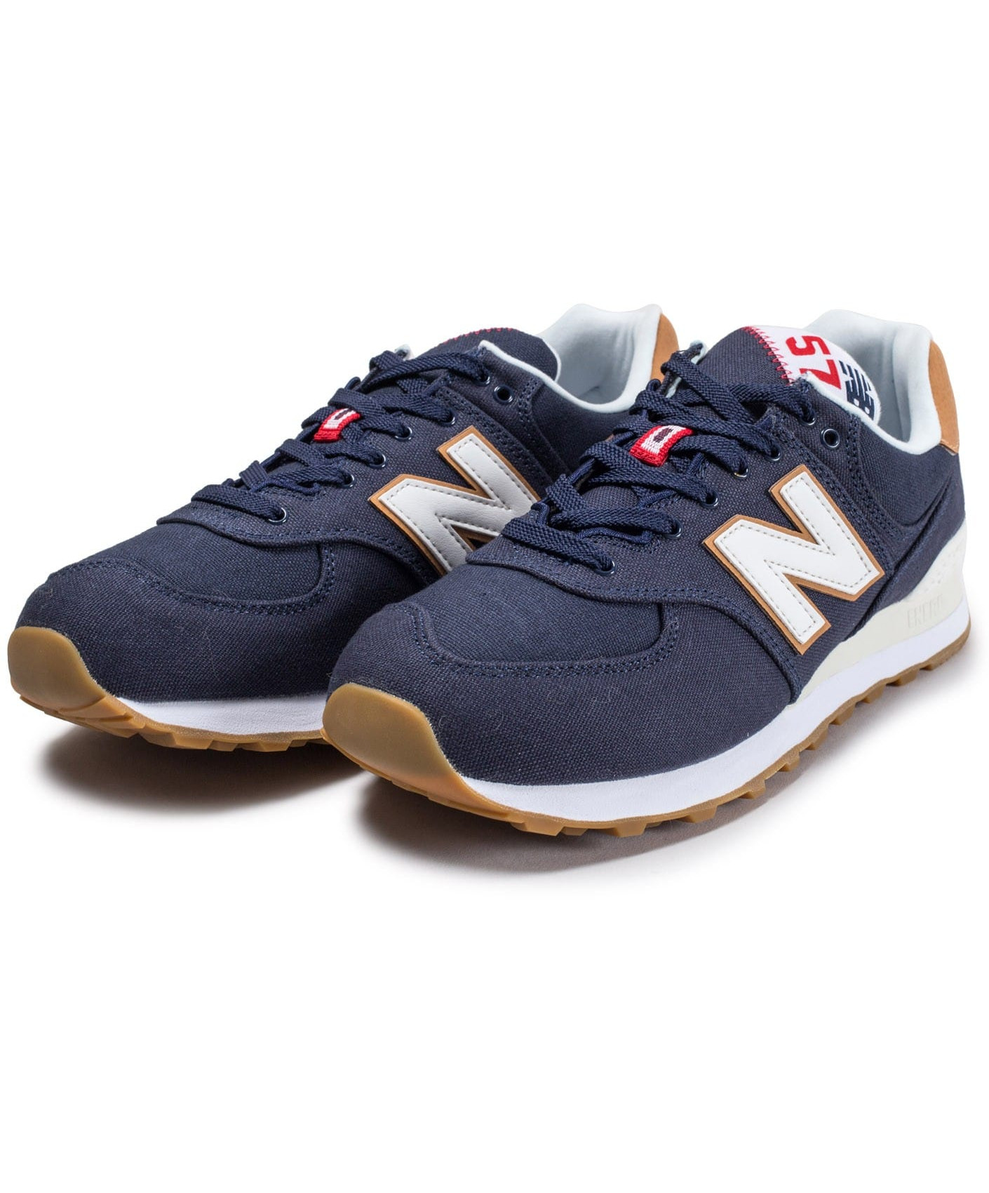 New Balance 574 Canvas Scarpe Sneakers Ginnastica Tennis Lifestyle Blu
