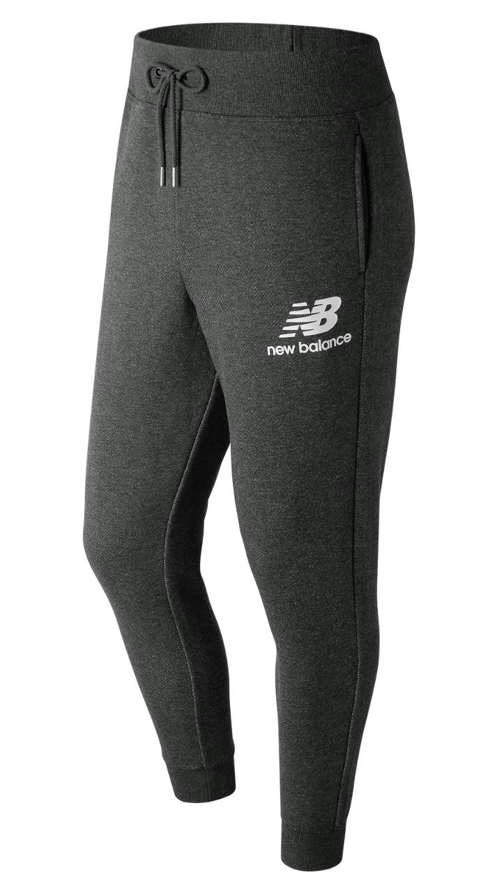 New-Balance-Pantaloni-tuta-Pants-Grigio-scuro-Cotone-2018-19-con-tasche
