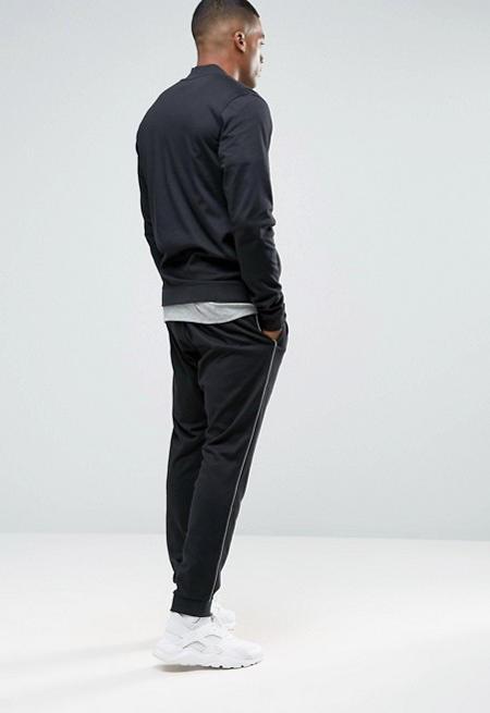 sportswear nike training trainingsanzug schwarz baumwolle. Black Bedroom Furniture Sets. Home Design Ideas